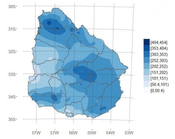 Datos de  Precipitación  Período  15 al 23 de Abril/2016